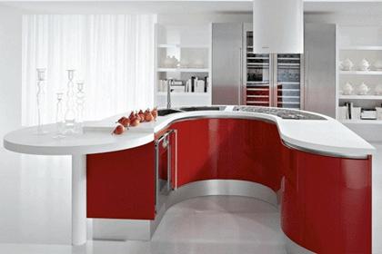 Une ambiance sur vitaminée, conviviale et dynamique, c'est le cocktail gagnant qu'apportera chez vous une cuisine rouge ! www.soodeco.fr