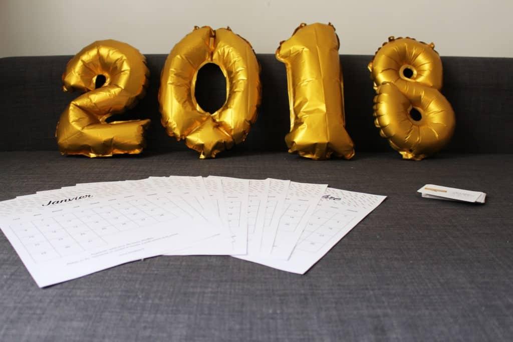 Mon calendrier printable 2018 ! www.soodeco.fr/