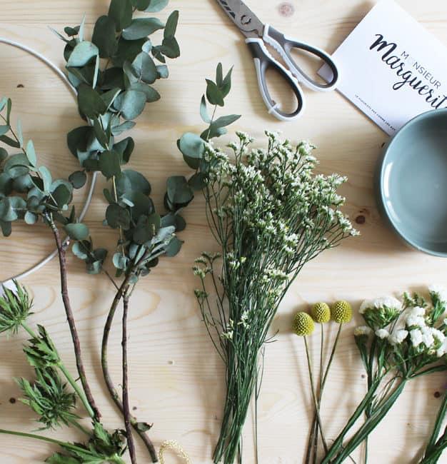 Couronne de fleurs déco DIY