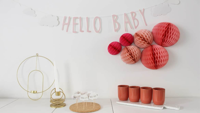 Une décoration de Baby Shower www.soodeco.fr/