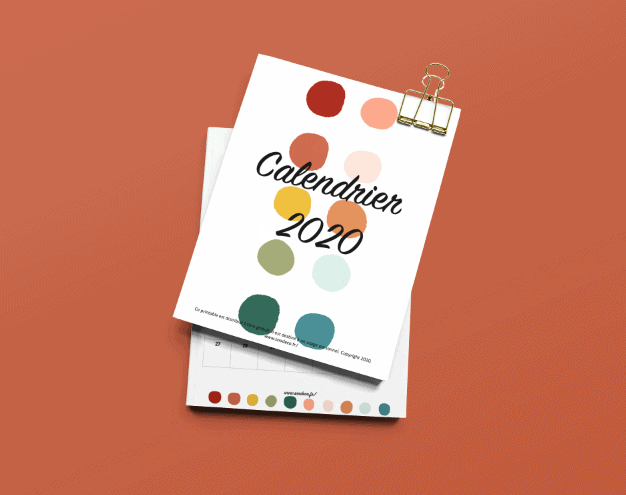 Calendrier DIY printable gratuit 2020