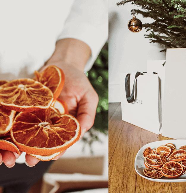 Guirlande d'oranges DIY
