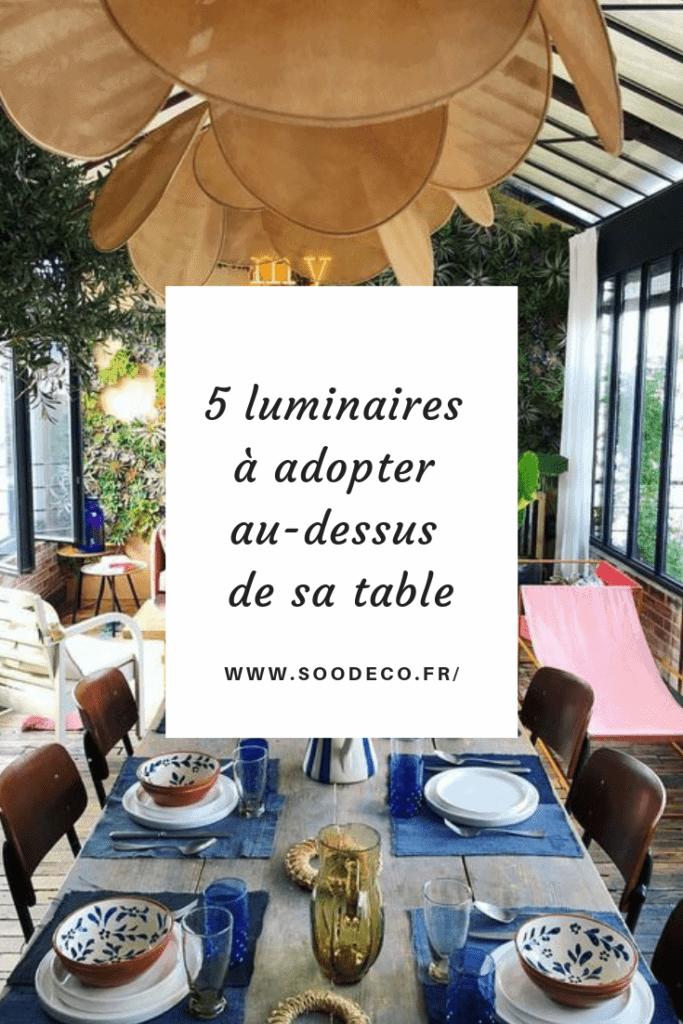 5 luminaires à adopter au-dessus de sa table