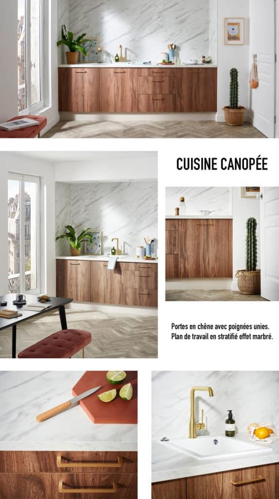 Un projet d'aménagement de la cuisine Canopée avec Lapeyre www.soodeco.fr/