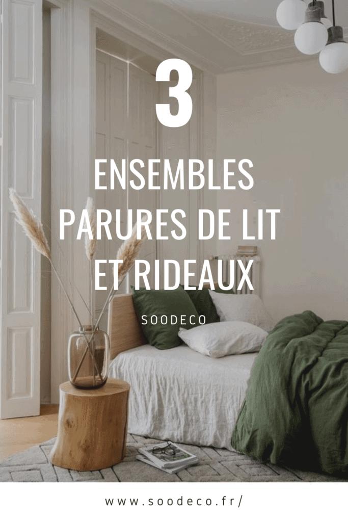 3 ensembles parures de lit et rideaux pour votre chambre www.soodeco.fr/