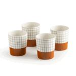 Lot de 4 tasses à carreaux www.soodeco.fr