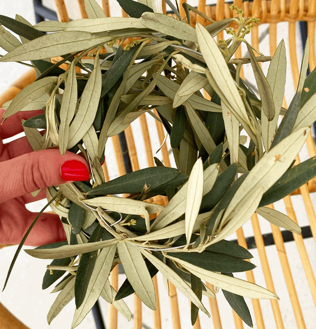 Une couronne d'olivier DIY