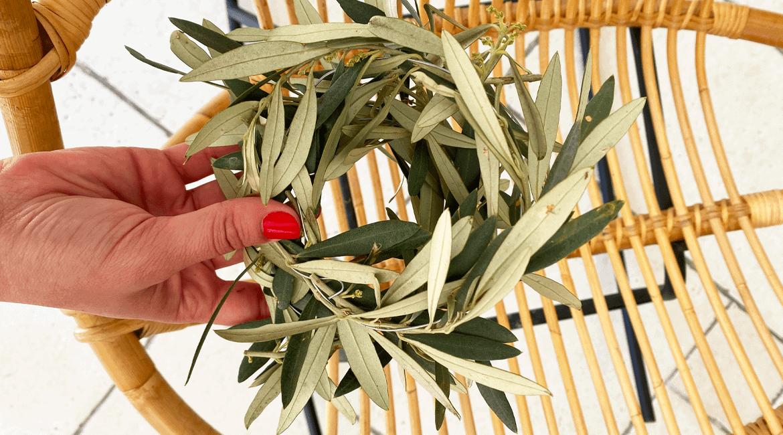 Une couronne d'olivier DIY www.soodeco.fr/