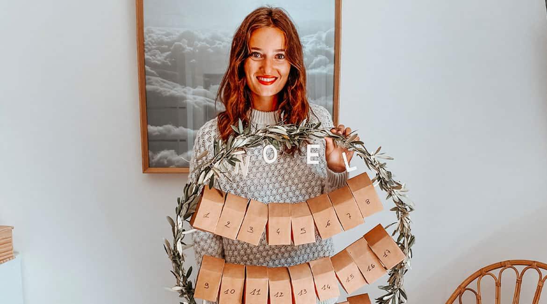 Couronne calendrier de l'avent DIY www.soodeco.fr/