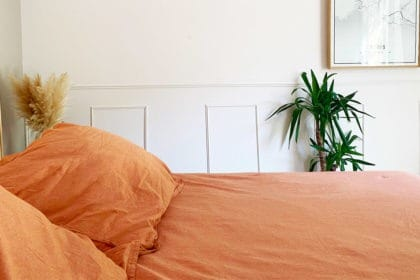Draps terracotta tomette Camif Made in France