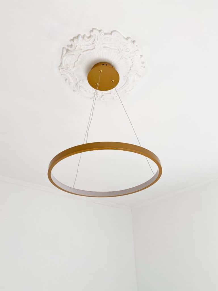 Suspension circle LED dorée plafond