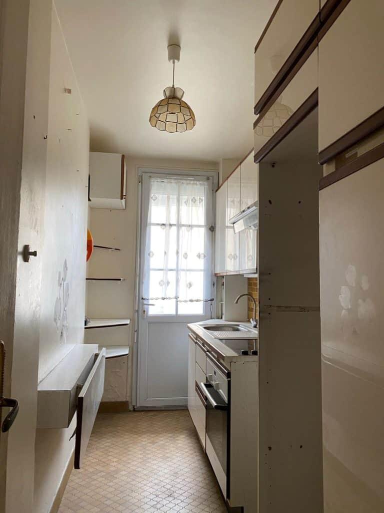 Cuisine vintage cuisine couloir ancienne avant rénovation