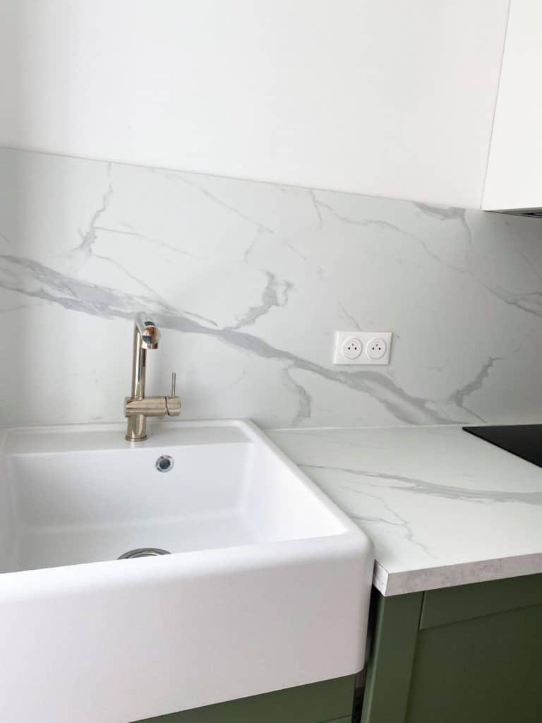 Évier en granit blanc Kümbat KIWI