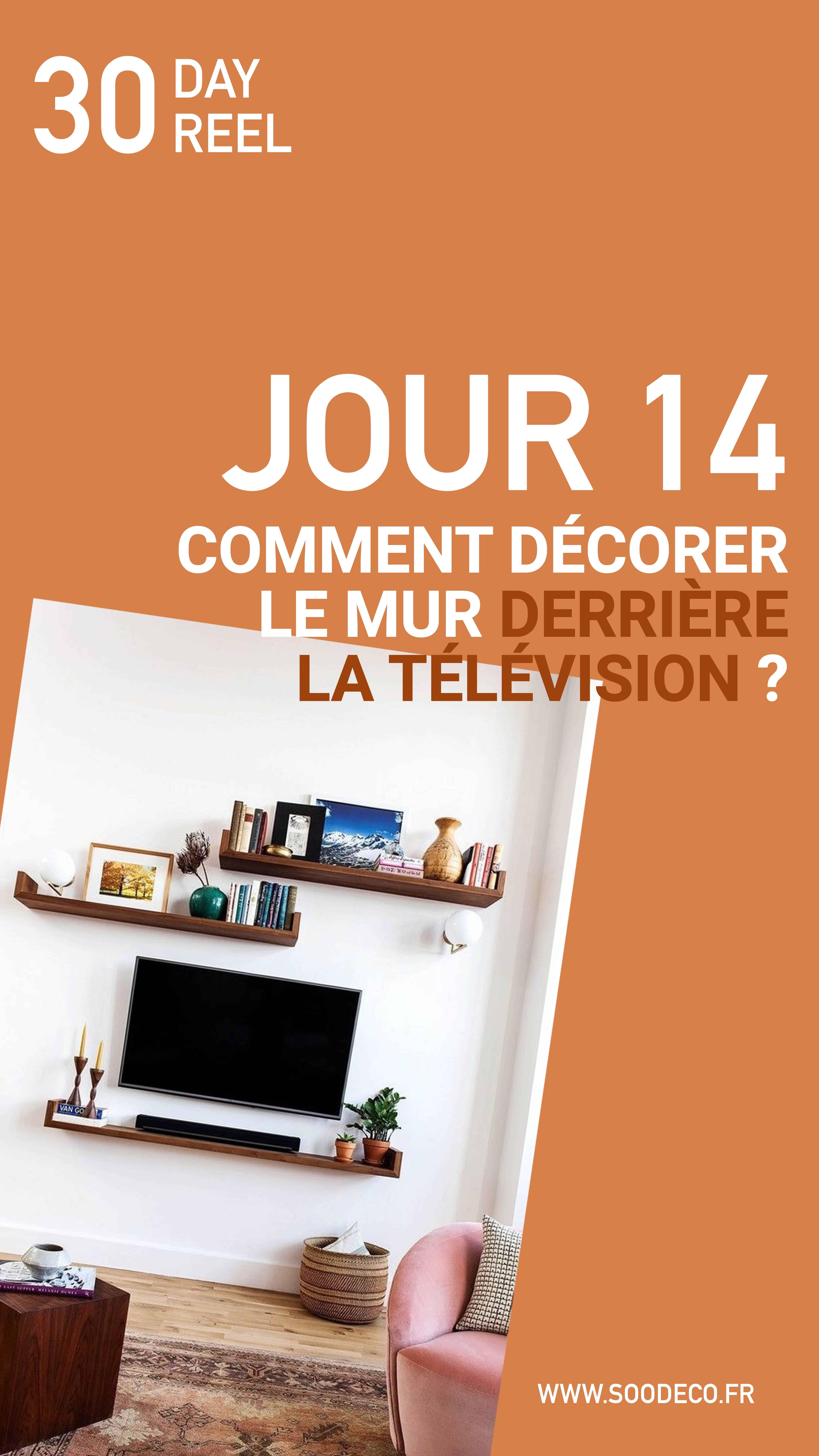 Comment décorer le mur derrière la télévision ?