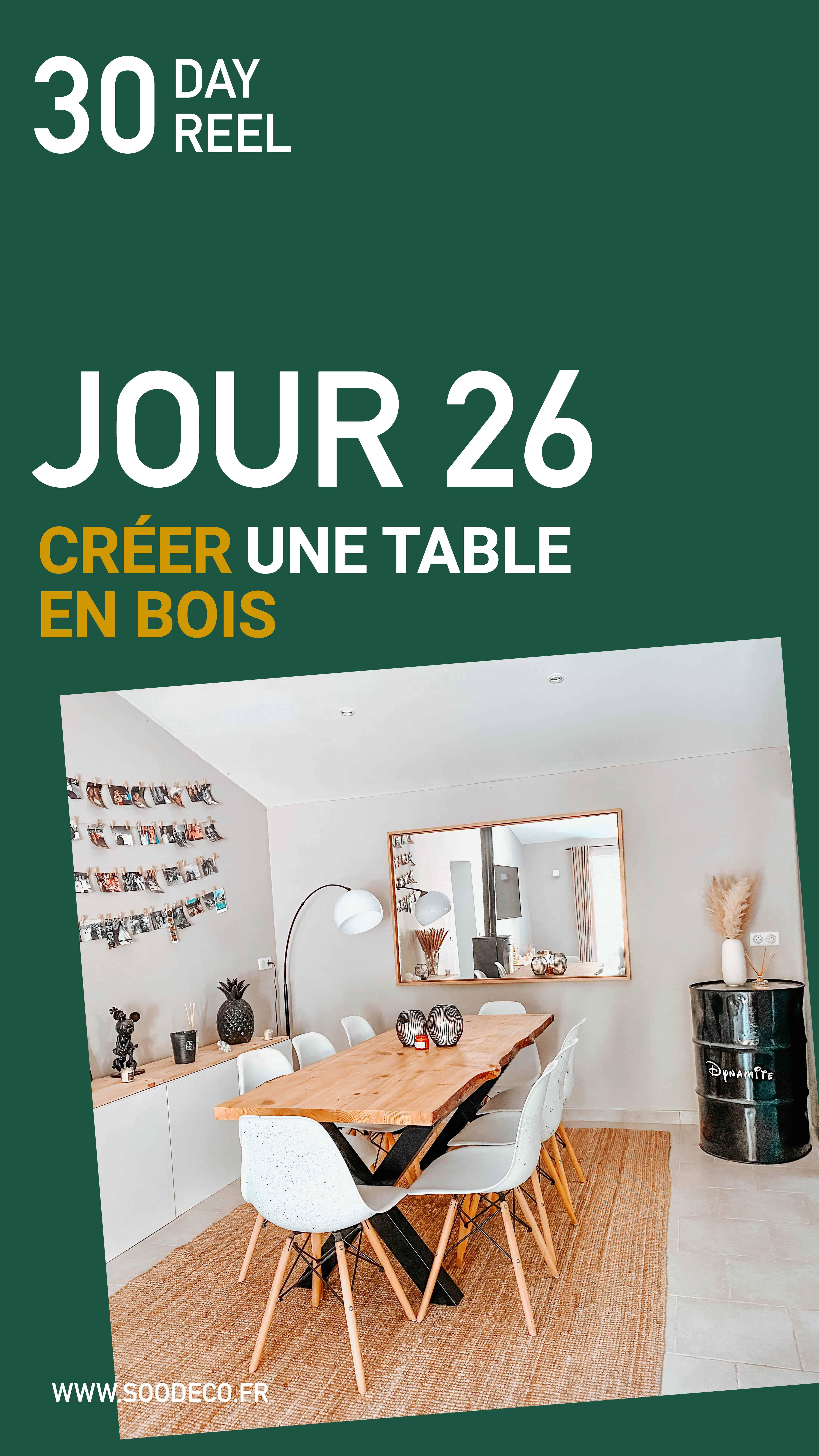 Créer une table de salle à manger DIY