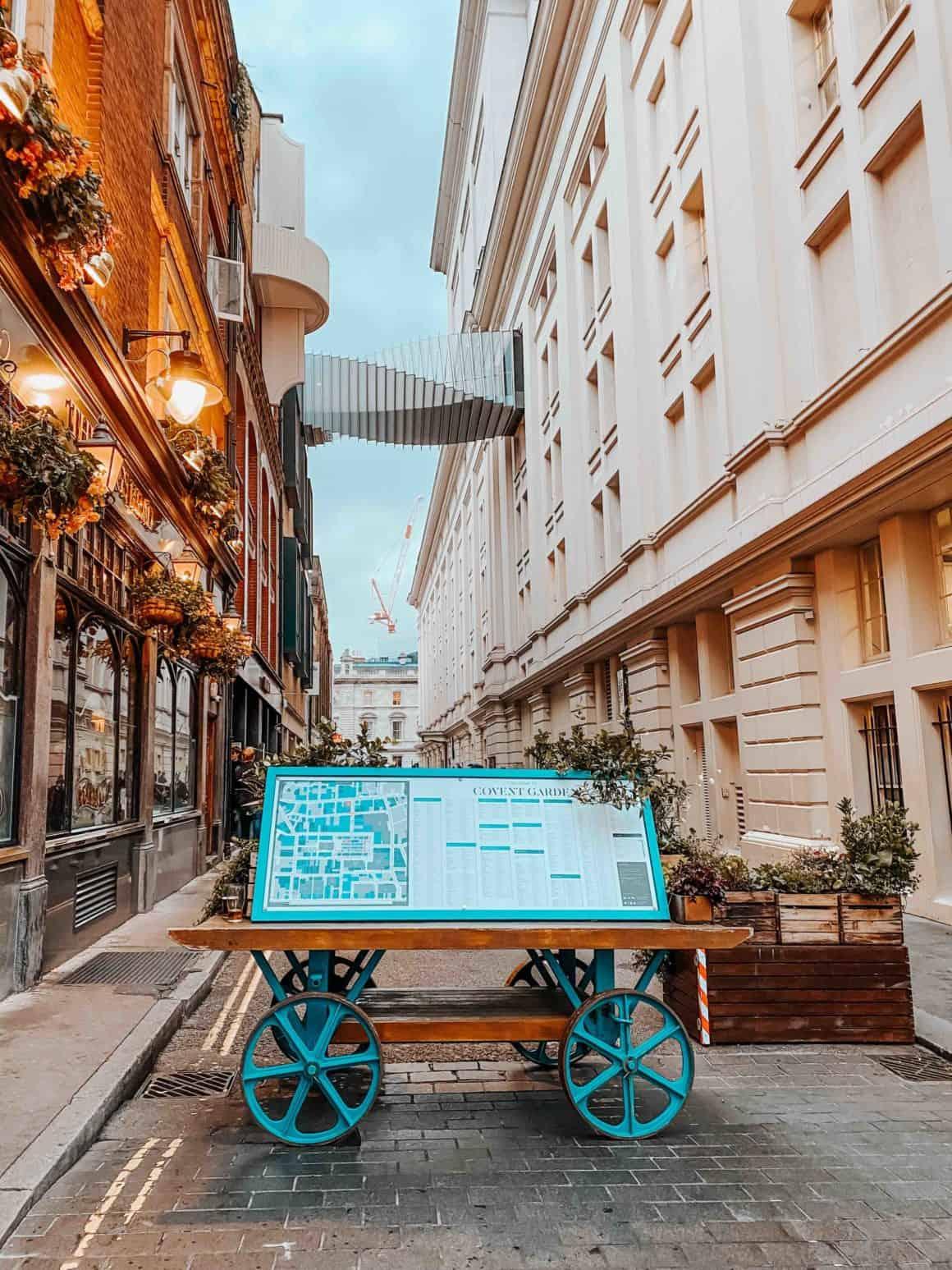 Covent Garden Londres marché boutique haut de gamme London