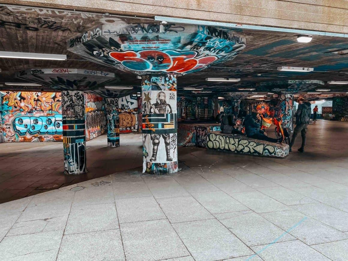 Street art Londres South Bank Center South Bank London